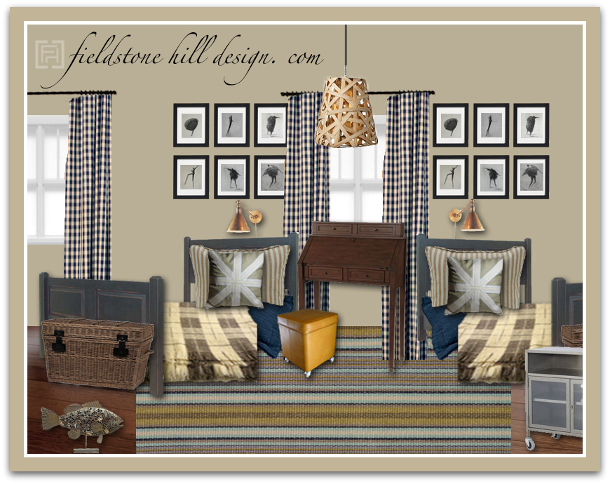 DebC Boys Room Design Board 1 Fieldstone Hill Design