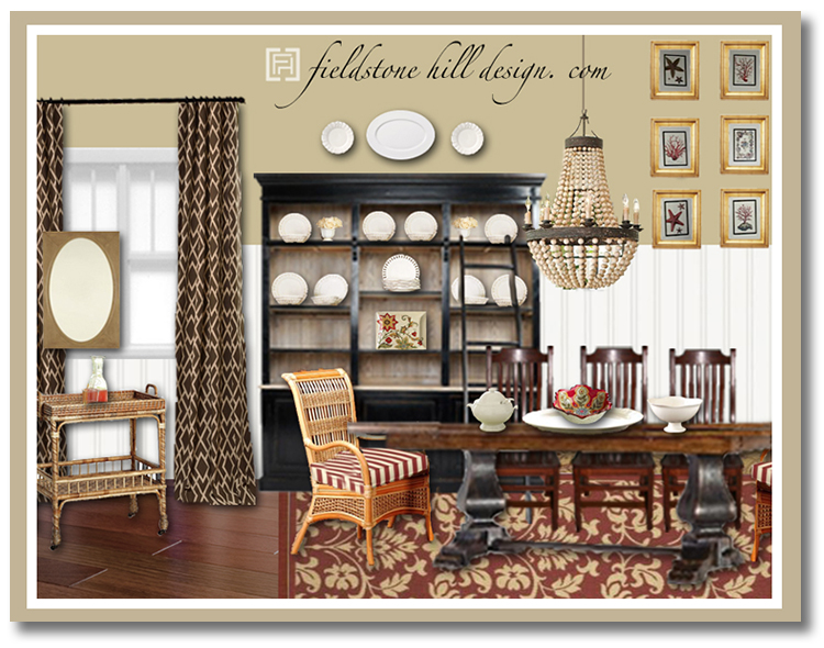 JillP Dining Room Design Board 1