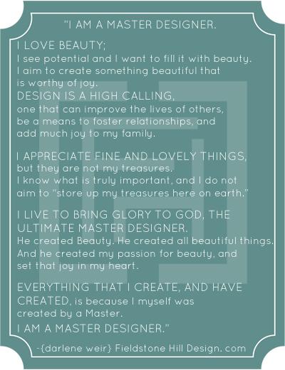The Master Designer Manifesto