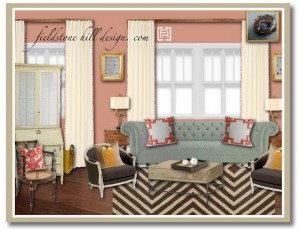 Keeping Room Design Board- edesign by Fieldstone Hill Design