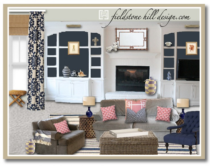 Design Board A Fresh And Bright Family Basement