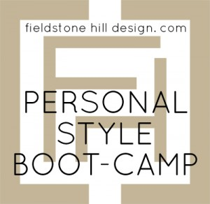 Personal style bootcamp button