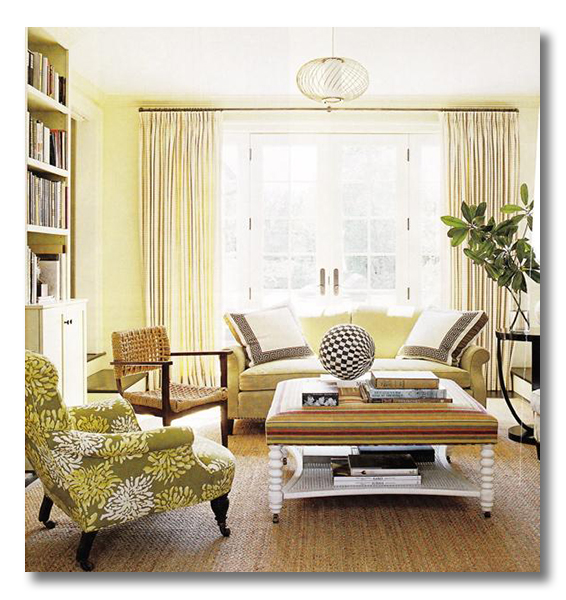 Coastal Living Via Decor Pad Yellow Green Web
