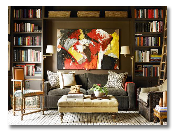 A Library With Perfect Sofa Nook
