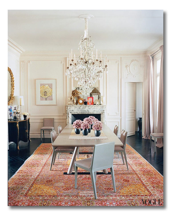 Lwren scott paris dining room vogue web fieldstone hill for Most beautiful dining rooms in paris
