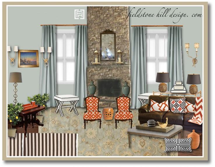Design Board A Sophisticated Great Room Fieldstone
