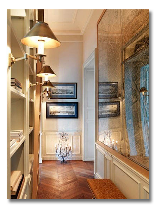 how to decorate a narrow entryway