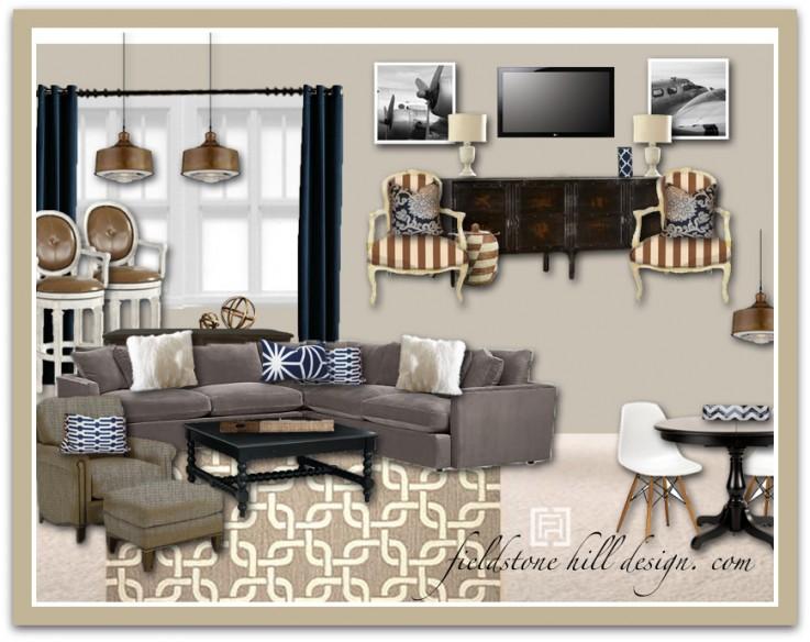 versatile family basement eDesign