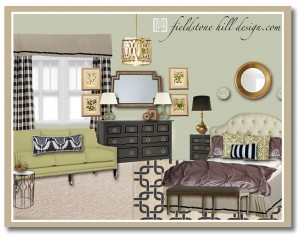 Master Bedroom Design Board- eDesign by Fieldstone Hill Design