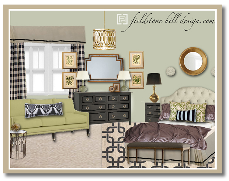 buffalo check - Master Bedroom Design Board- eDesign by Fieldstone Hill Design
