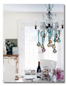 christmas chandelier- a great and glam diy project