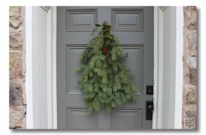 christmas door trimmings