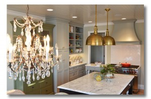 The kitchen of Edie Wadsworth, featured in BHG, design by Edie and Darlene of Fieldstone Hill Design