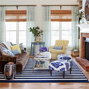 Edie's living room, BHG.com, design by Fieldstone Hill Design