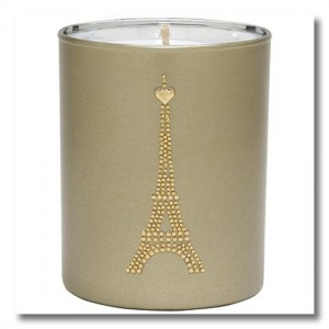 Paris heart candle