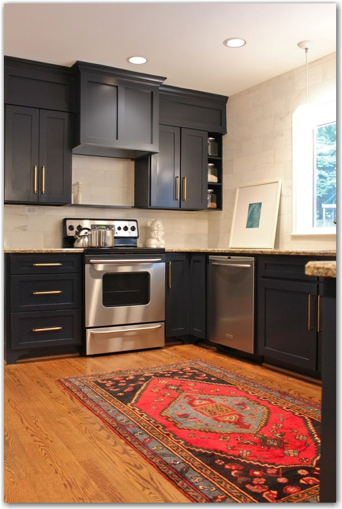 dark cabinets the painted house fieldstone hill design. Black Bedroom Furniture Sets. Home Design Ideas