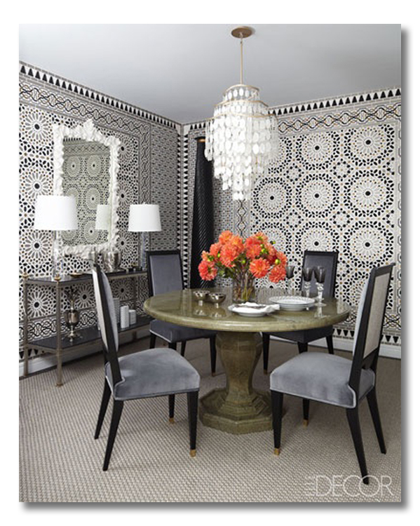 Matthew P Smyth Dining Room Elle Decor Ditto By Fieldstone Hill Design