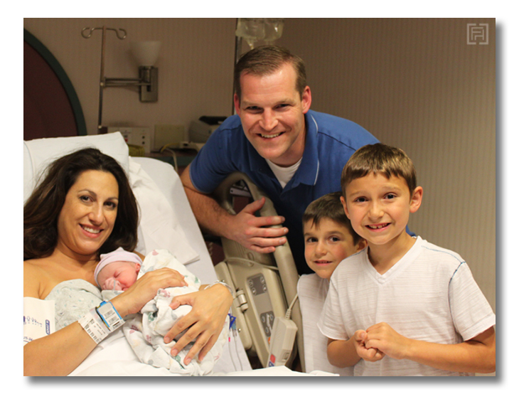 first family of five pic
