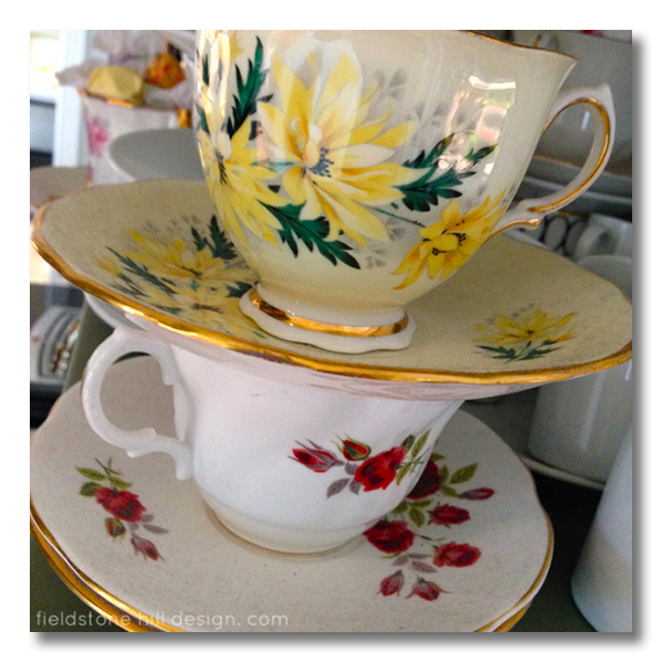 Edie's house Fieldstone Hill Design teacups