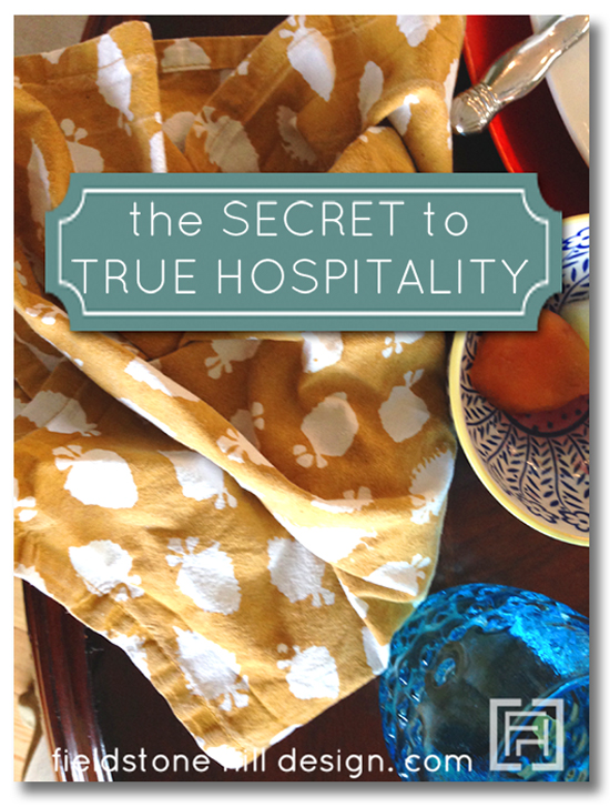Secret to True Hospitality