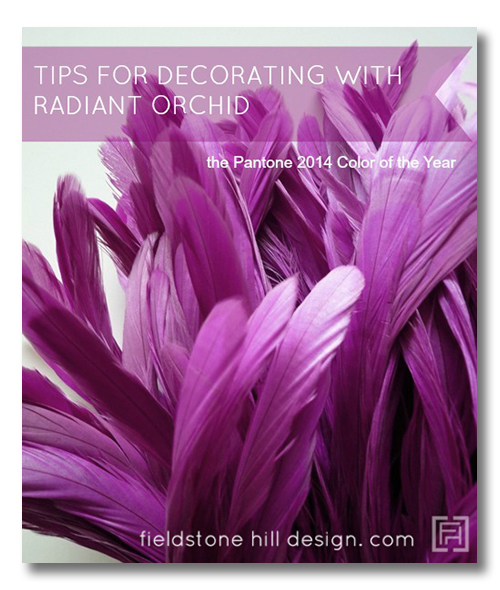 Tips for decorating with Radiant Orchid