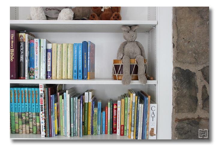 Boys room reveal Bookshelf Fieldstone Hill Design
