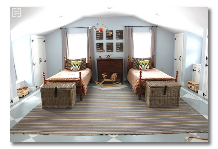 Boys room reveal Center shot Fieldstone Hill Design