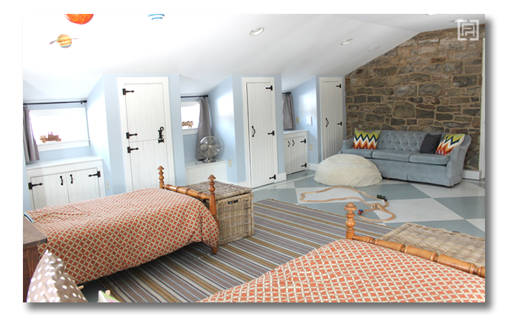 Boys room reveal stone wall Fieldstone Hill Design
