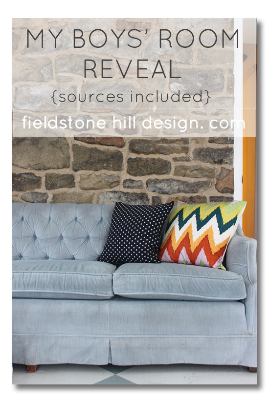 My Boys Room Reveal with sources from Fieldstone Hill Design