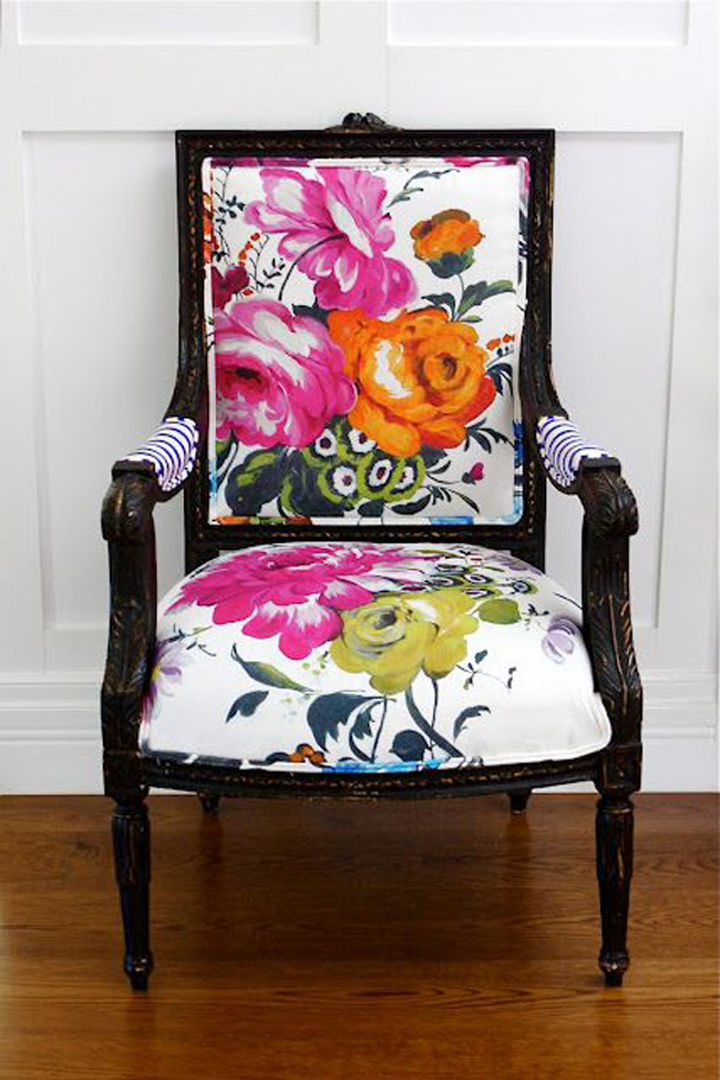 grandma floral design chair