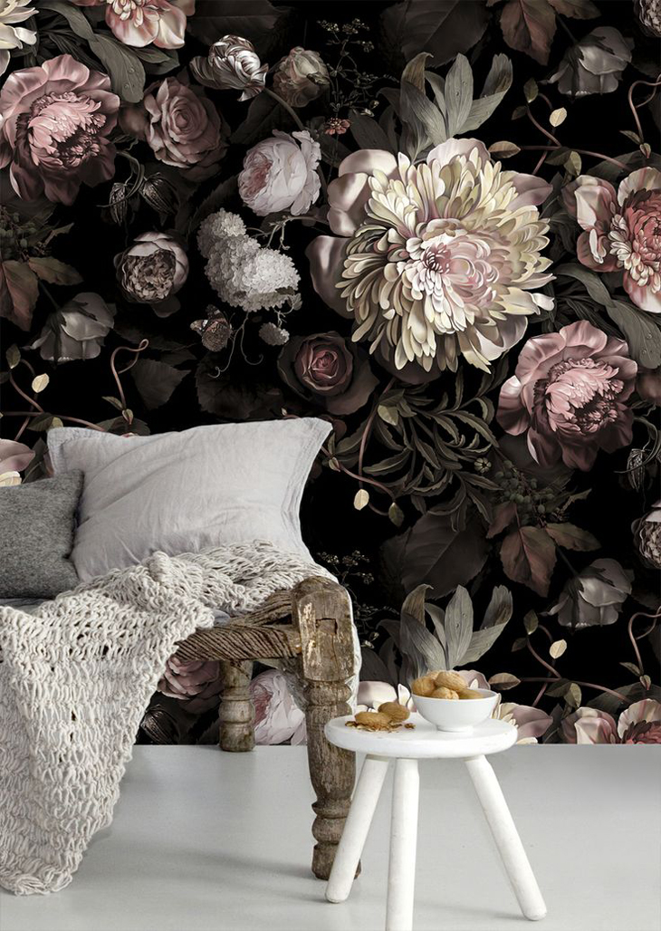grandma floral design wallpaper drama