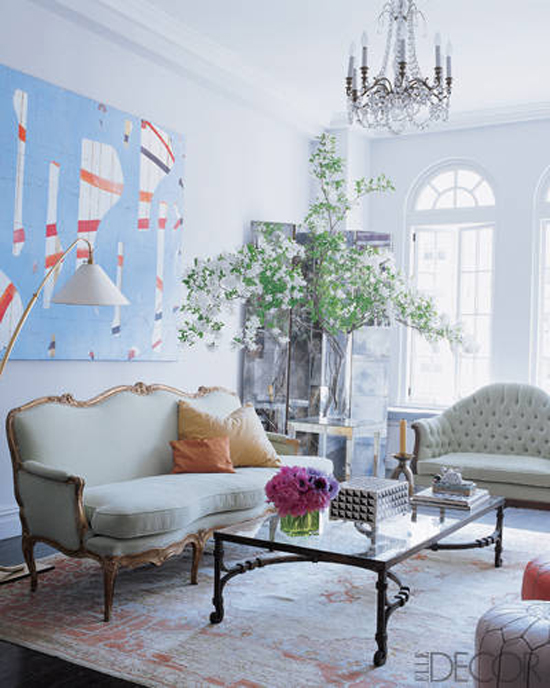Five Free Ways to add art and beauty via Fieldstone Hill Design, branches , Elle Decor