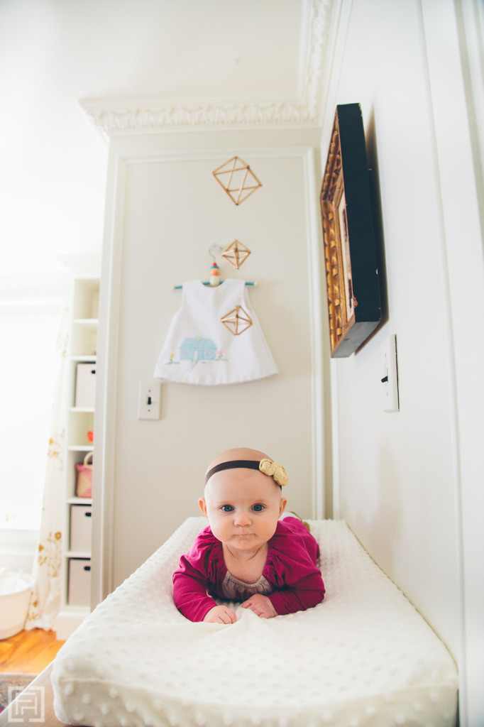 FHD nursery reveal, interior design by @fieldstonehill , georgia on her changing table