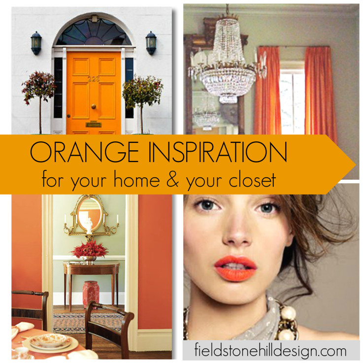 orange crush inspiration for your home and closet via @fieldstonehill