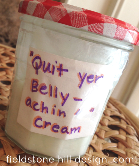 quit yer bellyachin cream with Young Living oils via @fieldstonehill 1413674