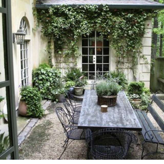 Dining al fresco inspiration images of outdoor dining for French style courtyard ideas