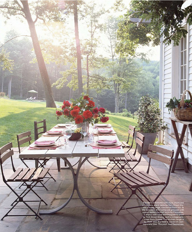 5 faves: dining a fresco via interior designer @fieldstonehill