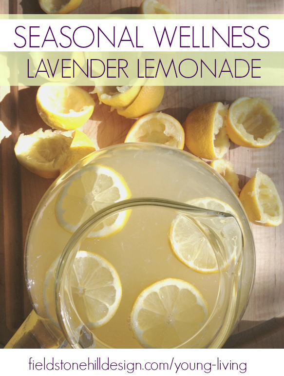 This is SO YUM! And refreshing. And comes with a perk for this time of year. Seasonal Wellness Lavender Lemonade via @fieldstonehill
