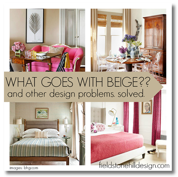what goes with beige