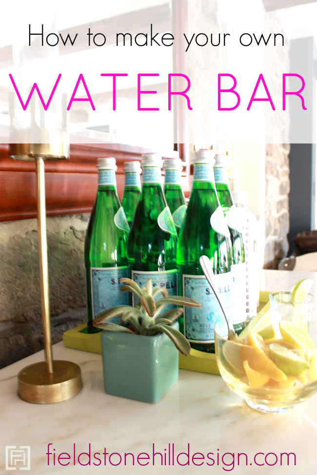How to make your own water bar via @fieldstonehill