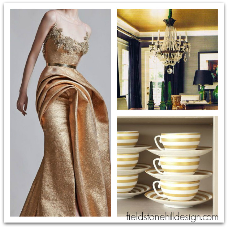 Gold Inspiration via interior designer @fieldstonehill
