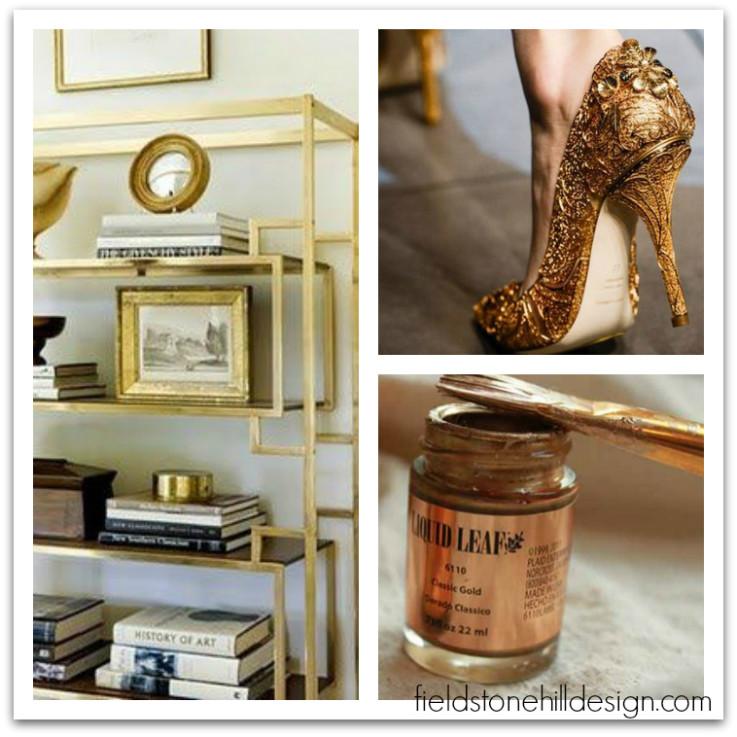 Gold Inspiration via interior designer @fieldstonehill