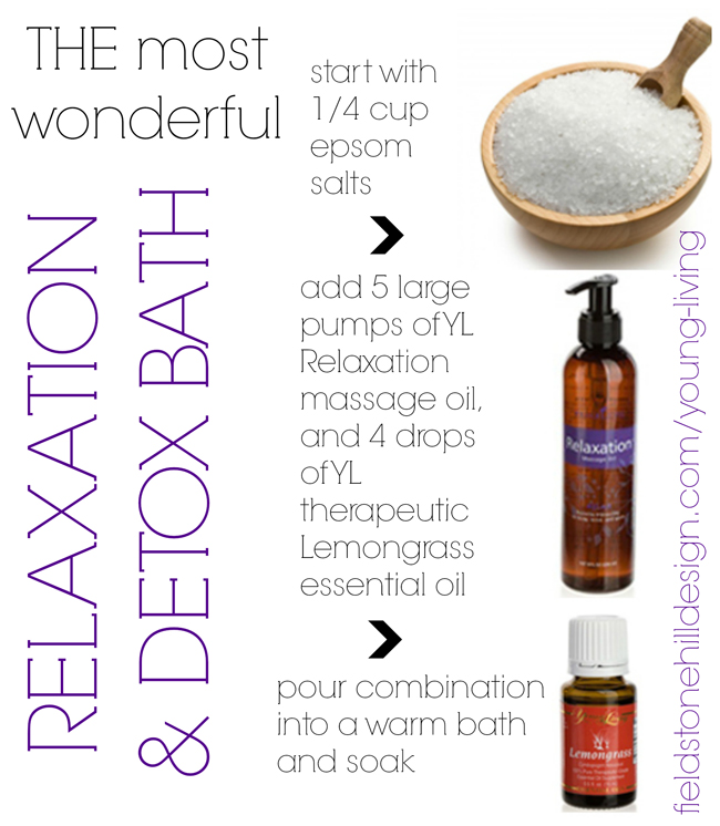 relaxation bath recipe via @fieldstonehill 1413674