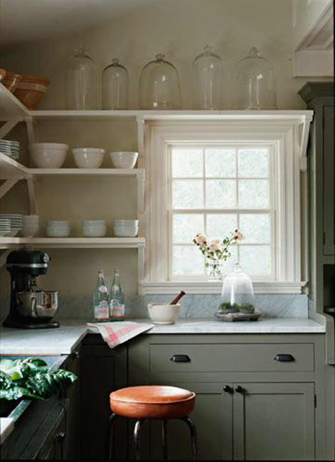 Favorite spaces farmhouse kitchen kitchen inspiration for Off the shelf cabinets