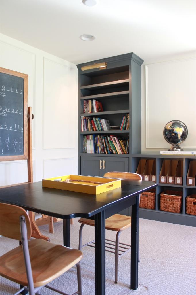 basement library school room 2