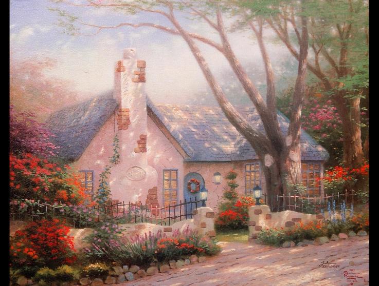 Kinkade - Morning Glory Cottage 1944X1472