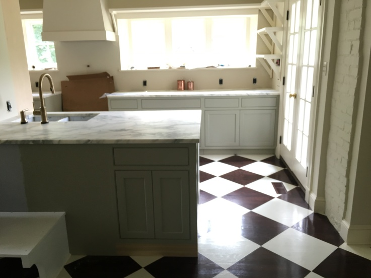 Fieldstone Hill kitchen, mid renovation via @fieldstonehill