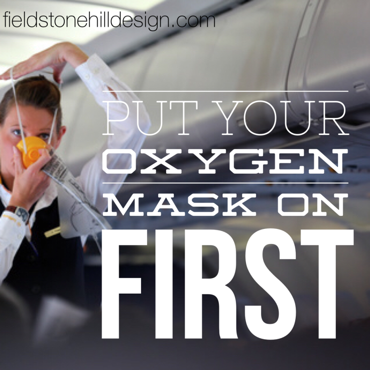 Oxygen mask on first