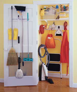 Doesnu0027t This Make You Want To Have An Organized And Bright Broom Closet?  Nothing Fancy, Just A Designated Space For Everything. Oh, And Color. {Real  Simple}