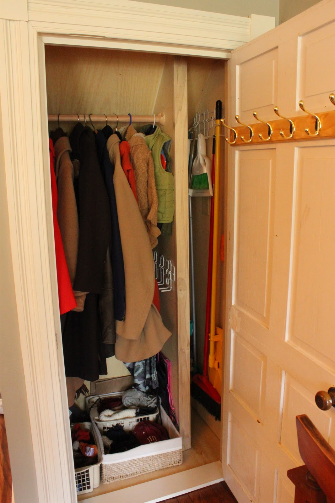 {but I Designed A Special Little Feature Into This Coat Closet That Really  Has Been Wonderful. What Is A Girl To Do When You Have A House With No  Closets On ...